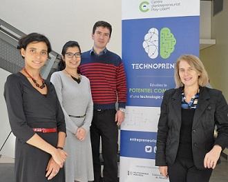 Les juges en compagnie de Ferdaous Dorai, responsable de Technopreneur