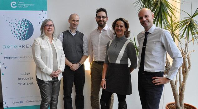 Sur la photo : Isabelle Deschamps, Jean-François Connolly, Phil Rivard, Christelle Chalono et Steeven Szejwach